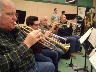 Trumpets in Dutchess County community band